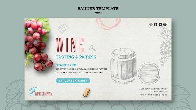 Plantilla de banner para cata de vinos