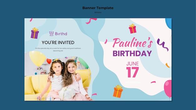 Plantilla de banner de celebración de cumpleaños