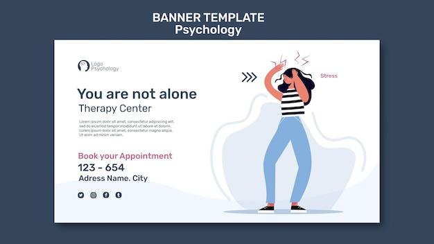 Plantilla de banner de centro de terapia