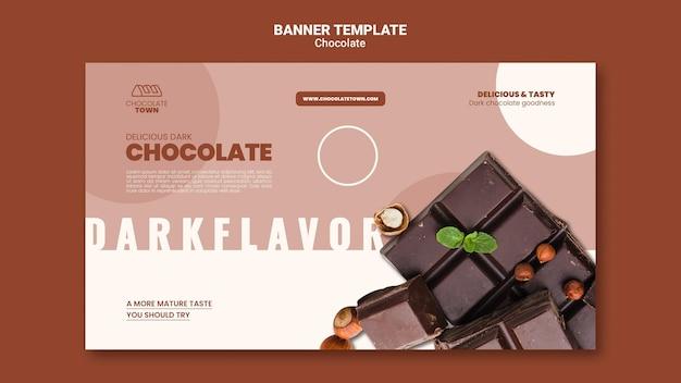 Plantilla de banner de chocolate sabroso