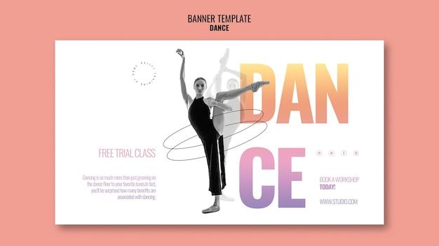 Plantilla de banner de clase de baile de prueba gratuita