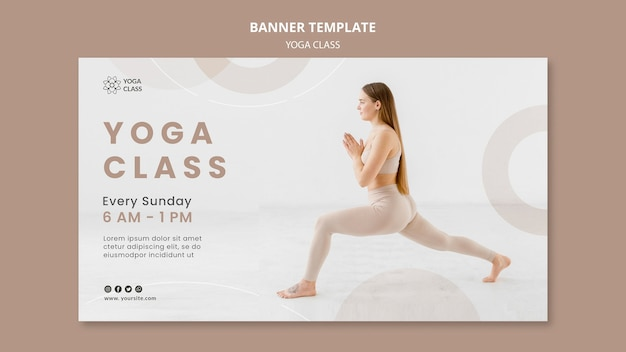 Plantilla de banner de clase de yoga