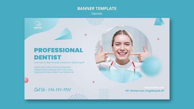 Plantilla de banner de clínica de dentista