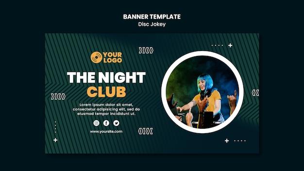 La plantilla de banner de club nocturno