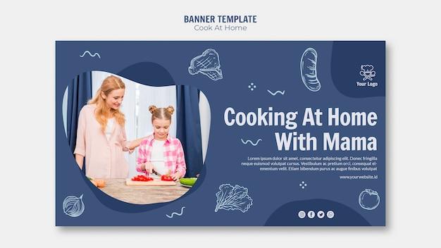 Plantilla de banner de cocina en casa