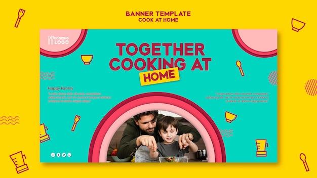 Plantilla de banner para cocinar en casa