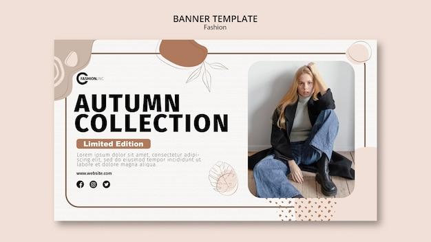 Plantilla de banner de colección de otoño