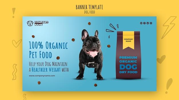 Plantilla de banner de comida para mascotas orgánica