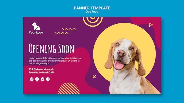 Plantilla de banner de comida para perros