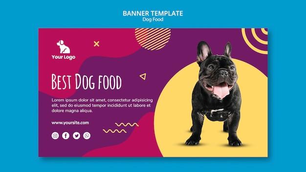 Plantilla de banner comida para perros