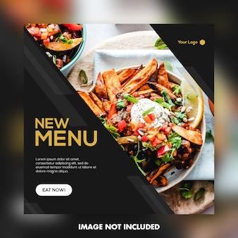 Plantilla de banner para comida de restaurante