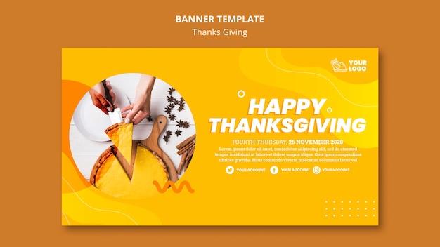 Plantilla de banner de concepto de acción de gracias