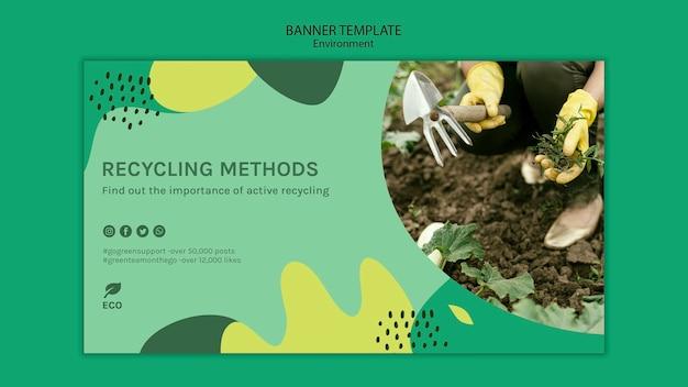 Plantilla de banner de concepto ambiental