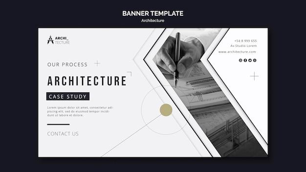Plantilla de banner de concepto de arquitectura