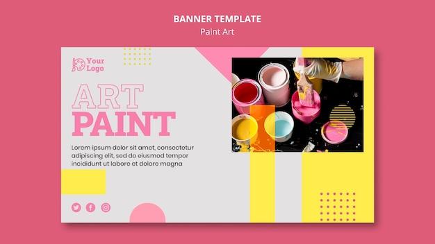 Plantilla de banner de concepto de arte de pintura