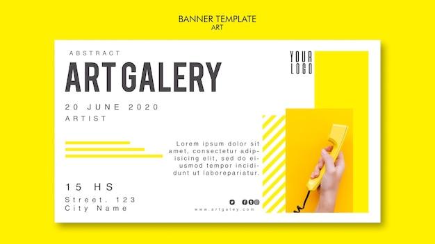 Plantilla de banner de concepto de arte