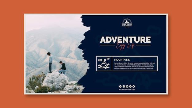 Plantilla de banner con concepto de aventura