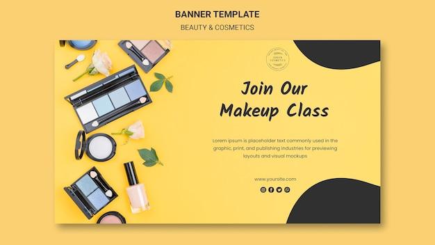 Plantilla de banner de concepto de belleza y cosmética