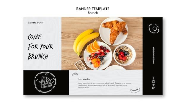 Plantilla de banner de concepto de brunch