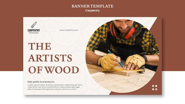 Plantilla de banner de concepto de carpintería