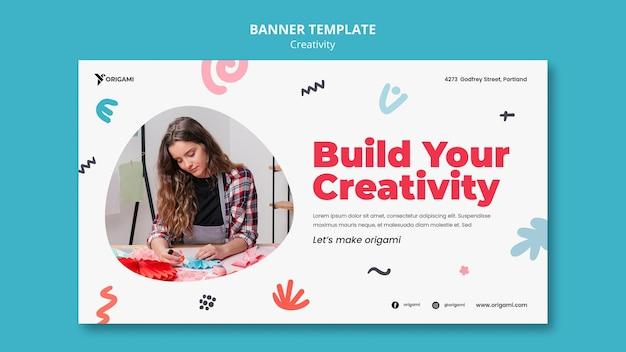 Plantilla de banner de concepto de creatividad