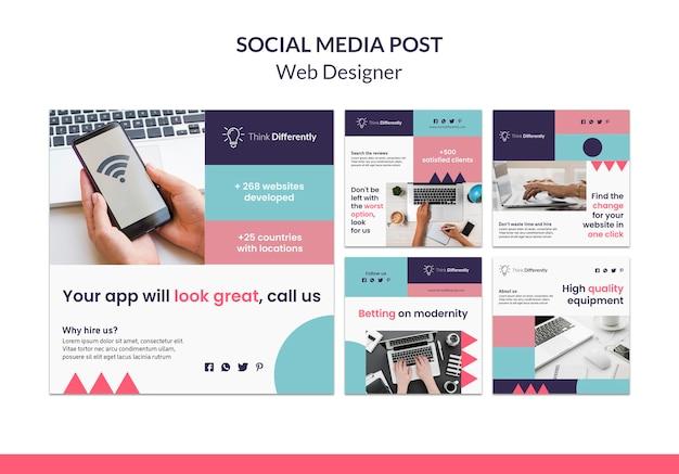 Plantilla de banner de concepto de diseño web