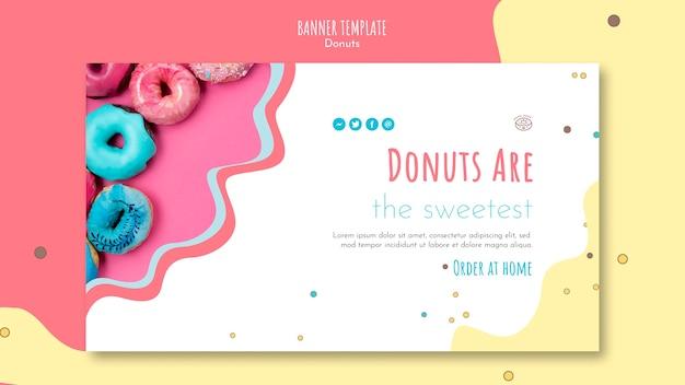 Plantilla de banner de concepto de donut
