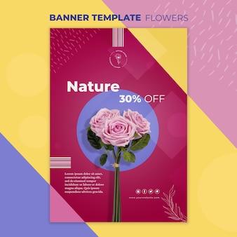 Plantilla de banner de concepto de flor