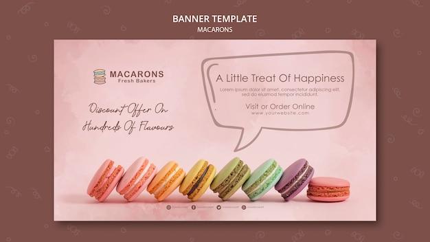 Plantilla de banner de concepto de macarons