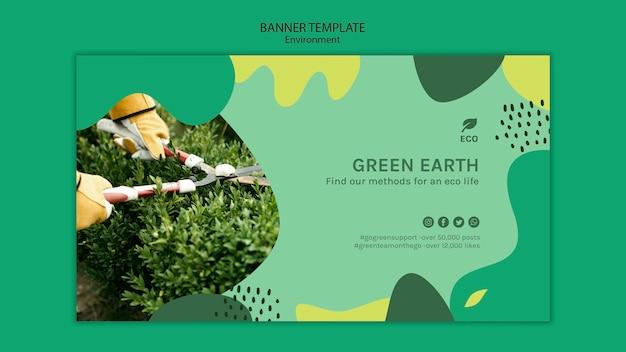 Plantilla de banner de concepto de medio ambiente