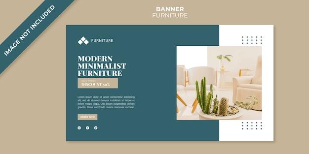 Plantilla de banner de concepto de muebles modernos
