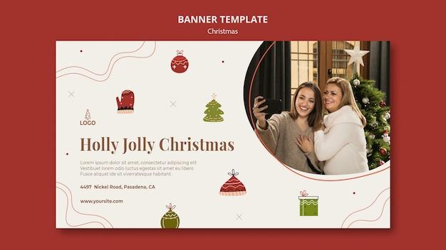 Plantilla de banner de concepto de navidad