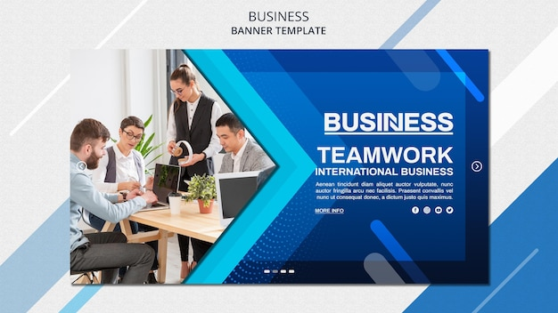 Plantilla de banner de concepto de negocio