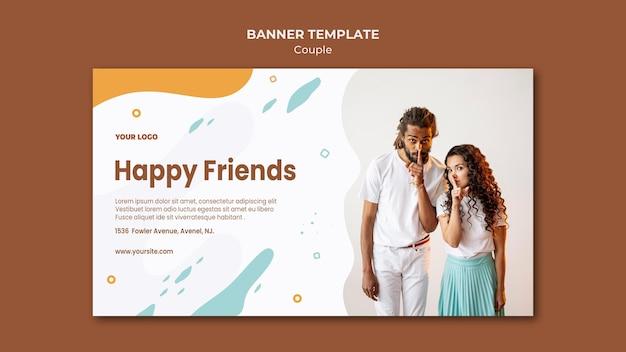 Plantilla de banner de concepto de pareja