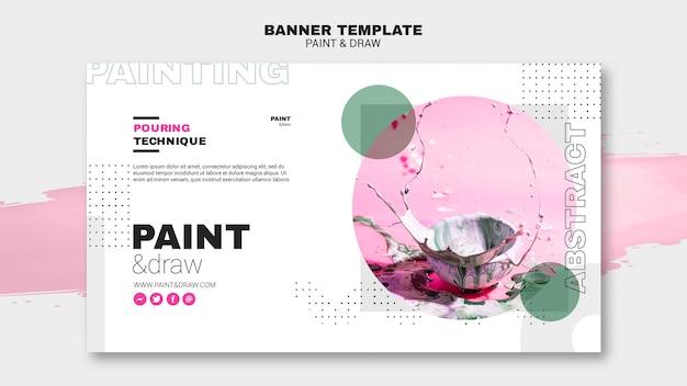 Plantilla de banner de concepto de pintura