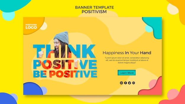 Plantilla de banner de concepto de positivismo