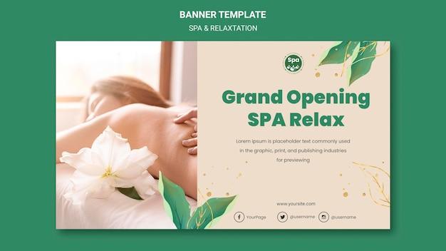 Plantilla de banner de concepto de spa