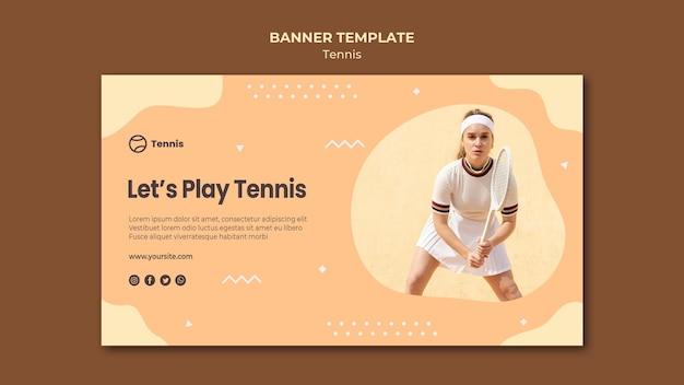 Plantilla de banner de concepto de tenis