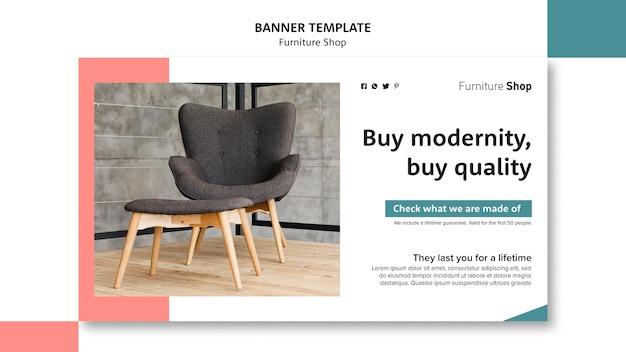 Plantilla de banner de concepto de tienda de muebles