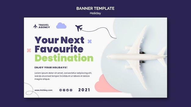 Plantilla de banner de concepto de viaje