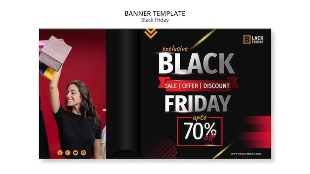 Plantilla de banner de concepto de viernes negro