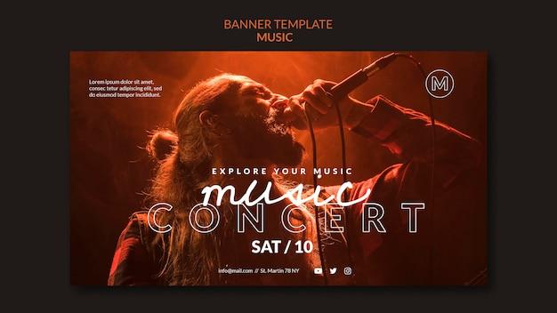 Plantilla de banner de concierto de música
