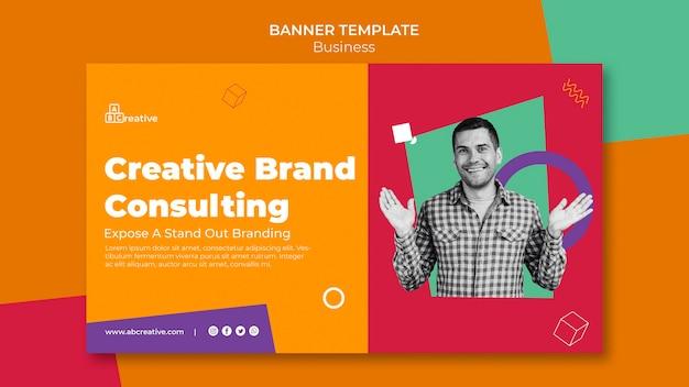 Plantilla de banner de consultoría de marca creativa