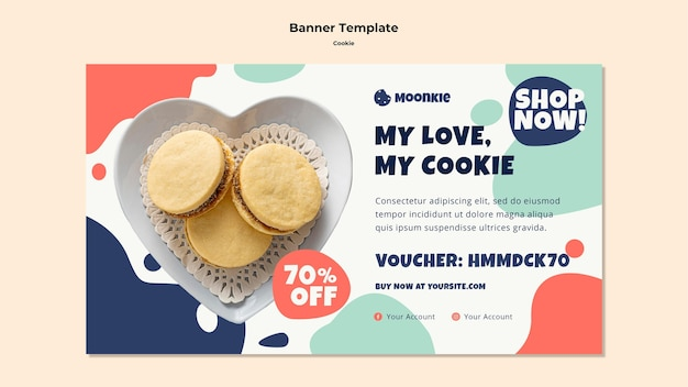 Plantilla de banner con cookies