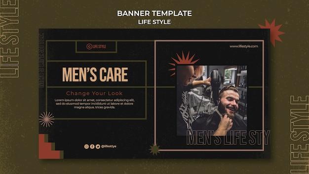 Plantilla de banner de cuidado de hombres