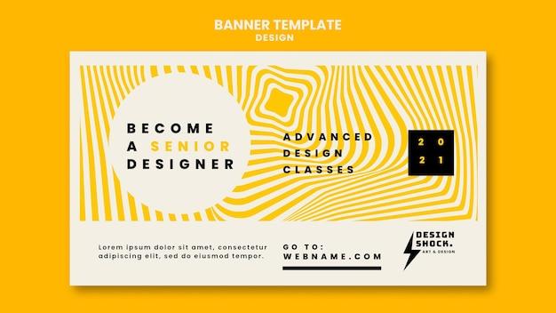 Plantilla de banner para cursos de diseño gráfico