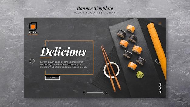 Plantilla de banner de deliciosa comida cambiante