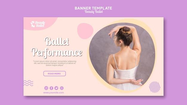 Plantilla de banner del día del ballet