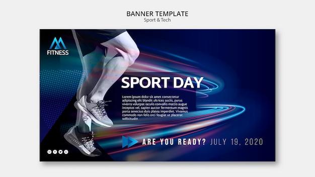 Plantilla de banner del día deportivo