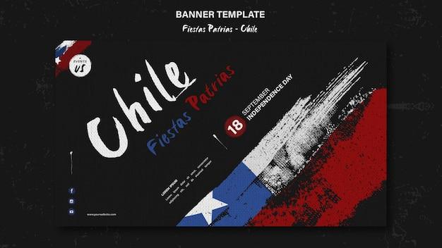 Plantilla de banner del día internacional de chile